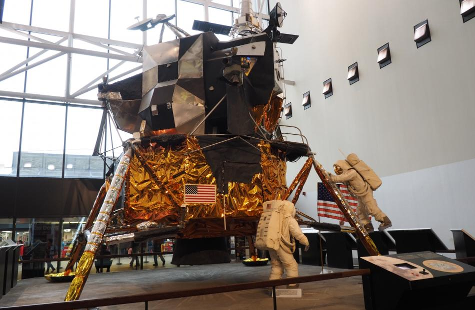 This Lunar Module from the Apollo 11 space mission is on display at the National Air and Space...