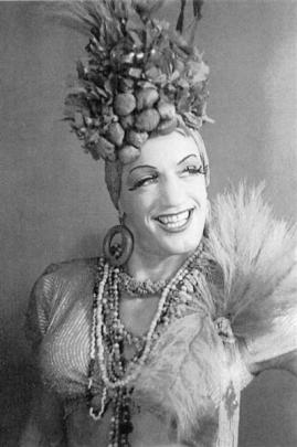 Robinson as Carmen Miranda.