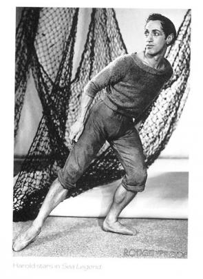 Robinson in Sea Legend (1948), in his first solo dancing role.