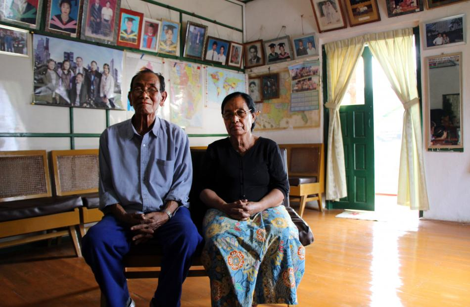 Hrang Hlun, seated with his wife Far Iaug, of Thantlang, in Chin State, is Henry Van Thio's older...