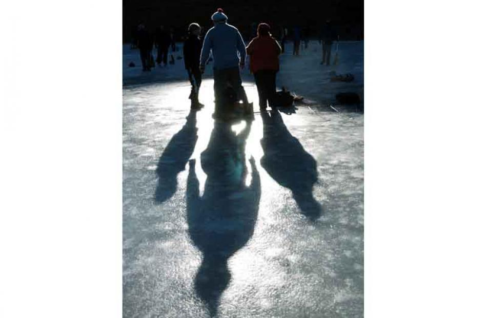 Silhouette of the curling.