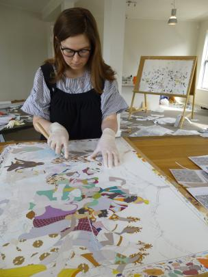 Kushana Bush at work in her Dunedin studio. Photo supplied.