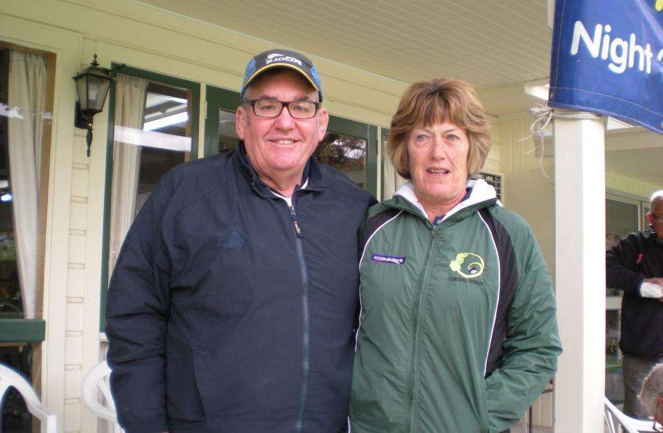 Queenstown's Lindsay Thomas and Christine Buchanan, who won the Central Otago mixed pairs.