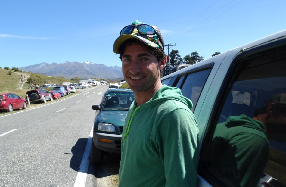 Jack Matthews, from the US, almost drove away due to lack of parking at the start of the Roys Peak track in Wanaka.