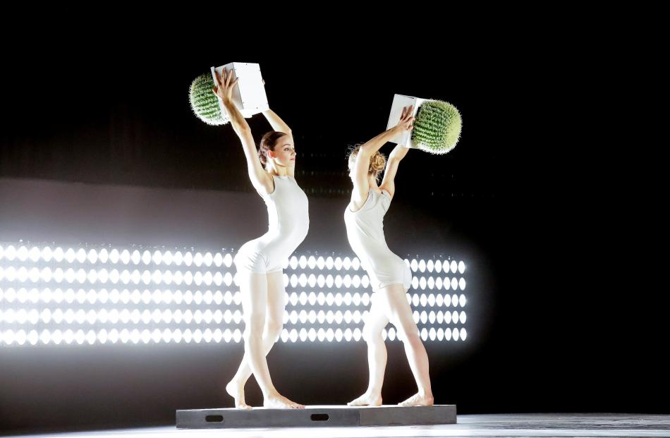 Cacti returns to the Dunedin stage this year. RNZB dancers Georgia Powley and Leonora Voigtlander perform in last year's production. Photo by Marten Holl.