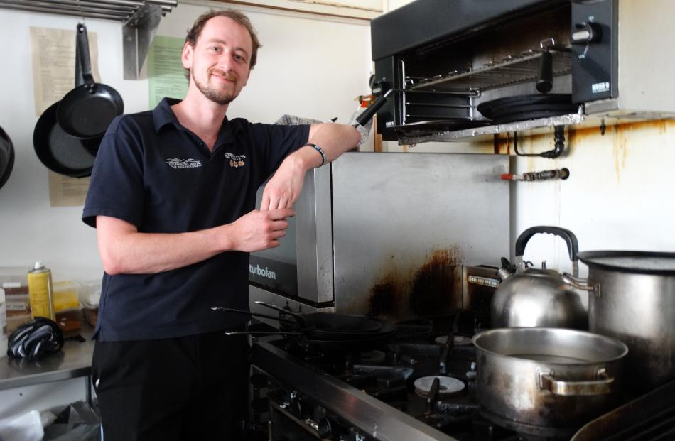 Glenorchy Hotel duty manager Lee Campbell said the hotel was able to provide a full menu to customers yesterday by using gas.