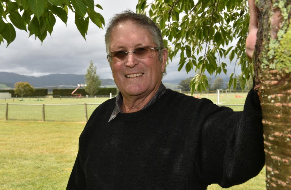 Otago Taieri A&P Society president Max Nichol, of Outram, is ready for its annual public show at the Taieri Showgrounds in Mosgiel on Saturday.