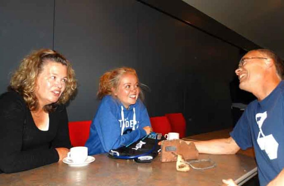 (from left) Jo, Hilary and Brad Hayes of Hamilton.