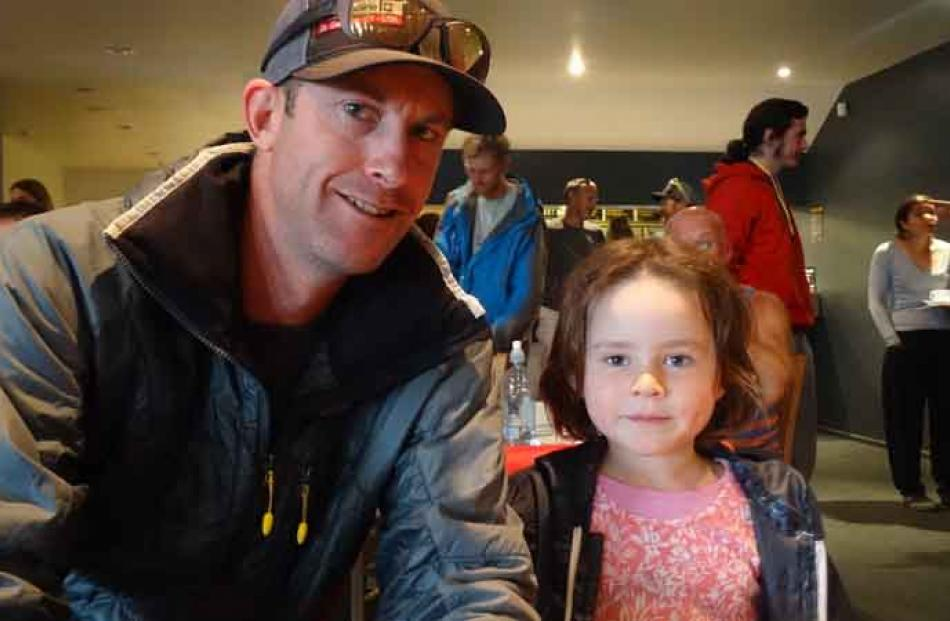 Brent Godsiff of Christchurch and Isabella Guise (5) of Dunedin.