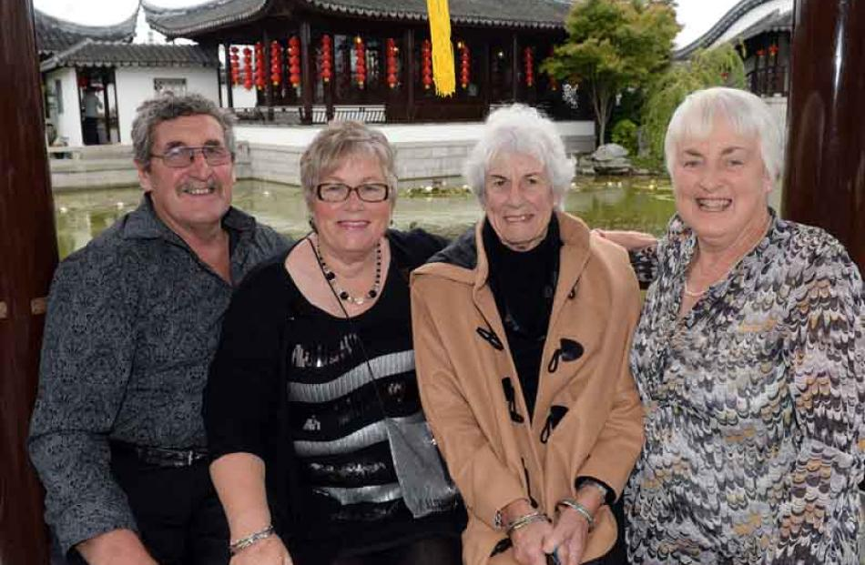 (from left) Ray and Mairi Dickson, Wendy Williamson and Rowan Pickering all of Waikaia