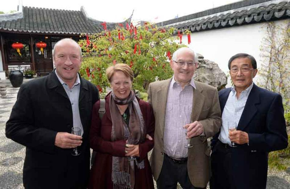 (from left) David and Wendy Clarke of Arrowtown, Malcolm Boote of Mosgiel and Dr Onn Chin of Mosgiel