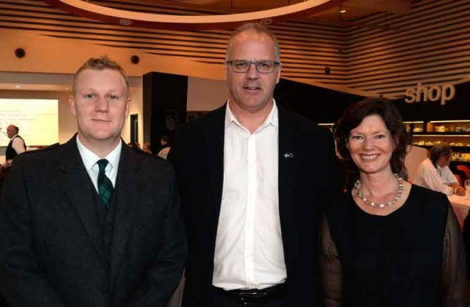 (from left) Will McKee, Sean Brosnahan and Kirsty Glengarry all of Dunedin