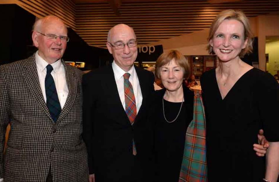 (from left) Prof Peter Matheson, Dr Royden and Lee Somerville and Kate Milne all of Dunedin