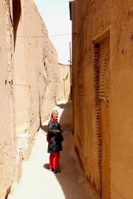 The narrow lanes of old Yazd, where one can be lost for hours.