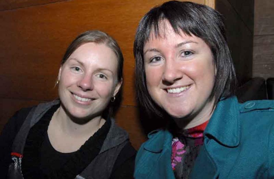 Renee Wilson and Kylie Hollows, both of Dunedin.