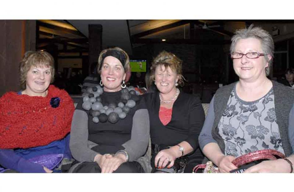 From left, Jill Wadsworth, from Otapiri Gorge, Jeannie McCleary, of Winton, Christine Dykes, of...