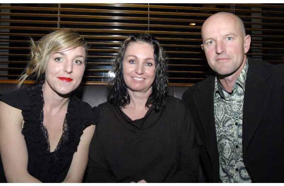 From left, Kirstie Bennett, Diane Rasmussen-Bennett and Chris Bennett, all of Timaru.