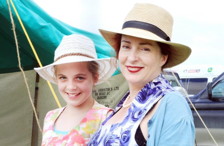 Amelia James-Pirie (12) and Liz James, both of Dunedin.
