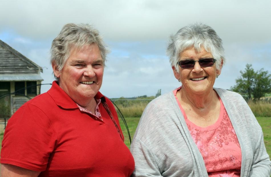 Kath Bartlett, of Kaitangata, and Shirley Hewlett, of Waikouaiti.