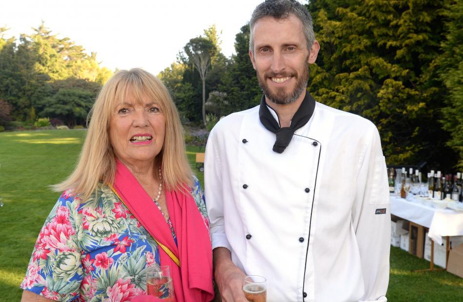 Christine Doig Brown and head chef Hamish Blair, both of Dunedin.
