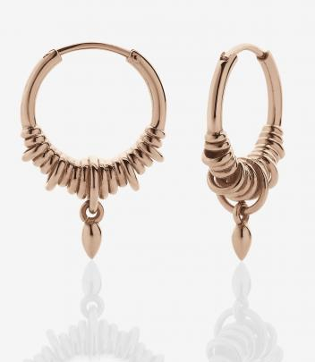Meadowlark Tribal Hoop Earrings