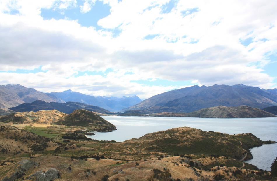 People are paying big bucks for land with vistas like this one of Lake Wanaka  showing Damper Bay...