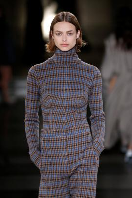 One-piece suits were popular with the designer. Photo: Reuters