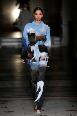 Horse print was popular with the designer. Photo: Reuters