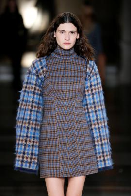 Oversized sleeves and sharp fits were featured. Photo: Reuters