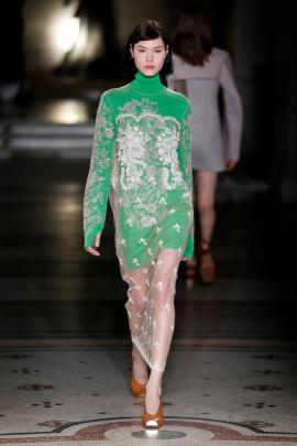 Transparent fabric revealed tight-fit under-layers. Photo: Reuters