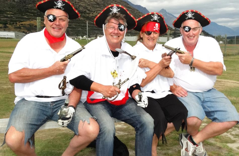 Grant Butson, Neil Brewer and Belinda Davidson, all of Frankton and Mark Ward, of Queenstown.