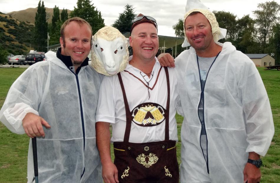 Simon Rutch, of Frankton, Hayden Walker, of Christchurch and Paul Seyer, of Queenstown.