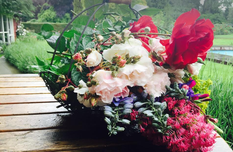 Treasures ''harvested'' last December from Leonie Campbell's garden in Waiareka Junction, Oamaru...
