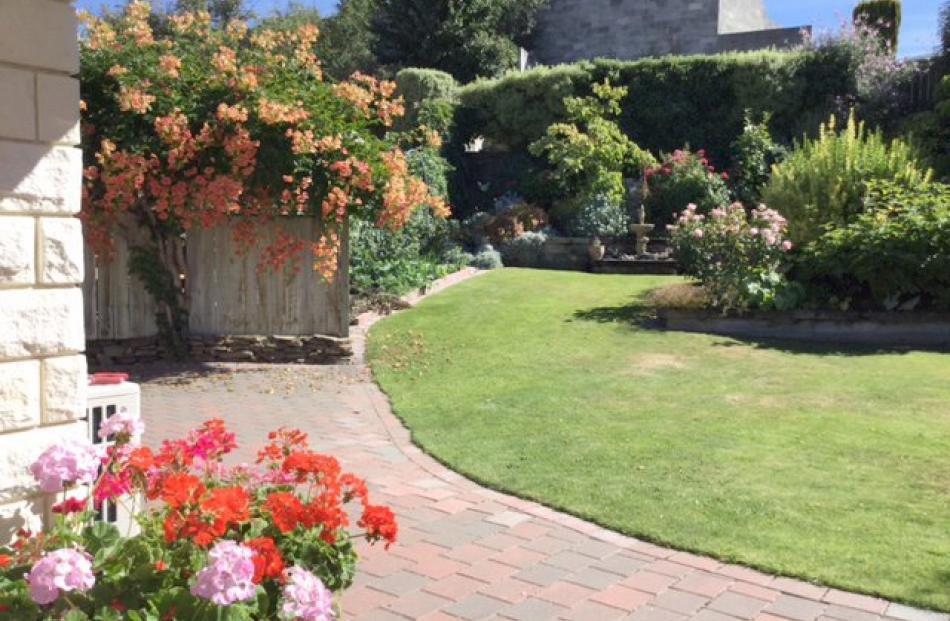 This is Rosie Henderson's autumn garden on Bridge Hill, Alexandra.