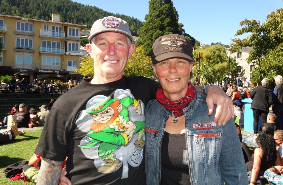 Kenny and Lesley Williams, of Greymouth, on the Iron Run 2017.