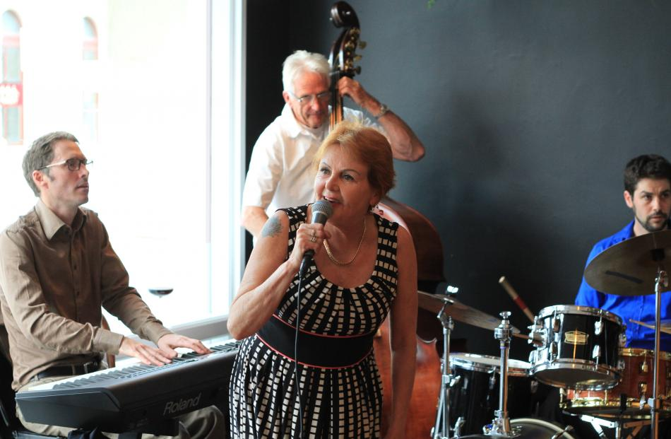 Edwina Thorne performs with The Bill Martin Trio at Cucina  on Saturday evening.