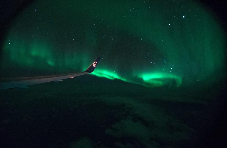 Taichi Nakamura's photograph of aurora australis. Photo: Taichi Nakamura.