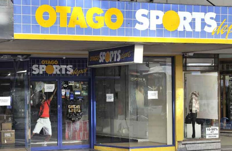 Former Otago Sports Depot store, George Street: moved.