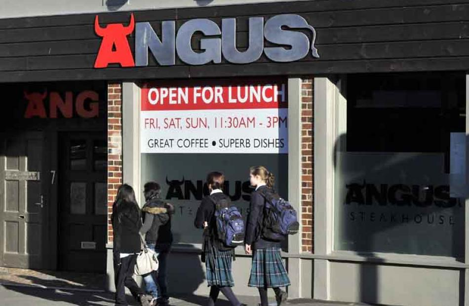 Angus Steak House, St Andrew St: open for lunch.