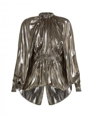 Ellery Echo bubble-hem lamé blouse, at matchesfashion.com, $1645