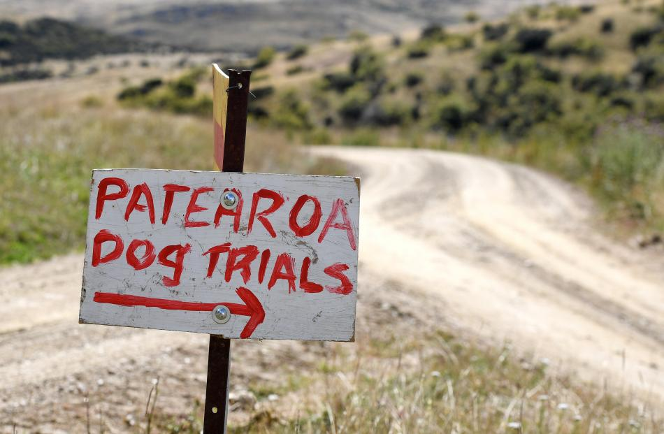 The directions to the Patearoa dog trials.