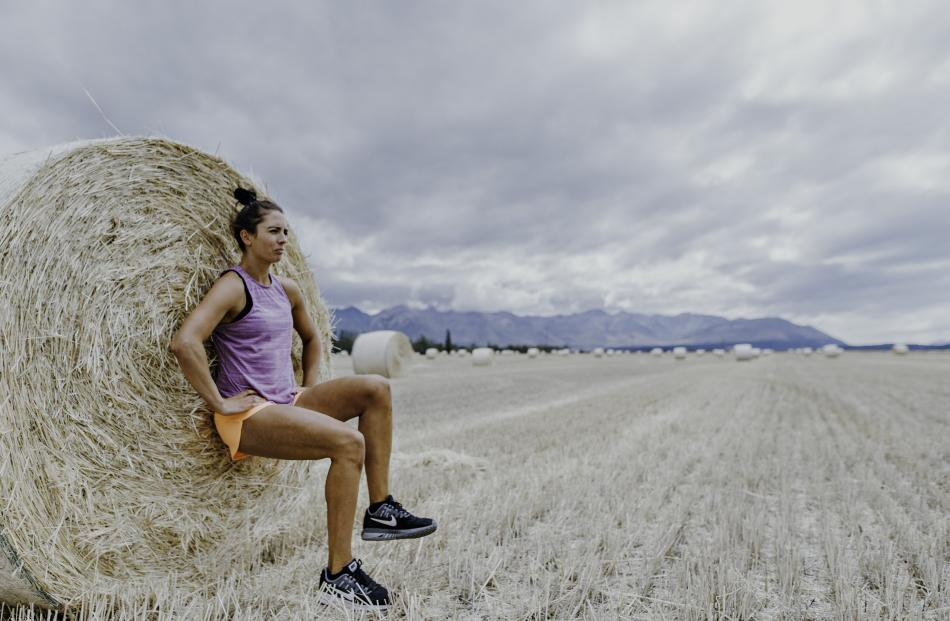 Kate Ivey works out in paddocks and sheepyards.