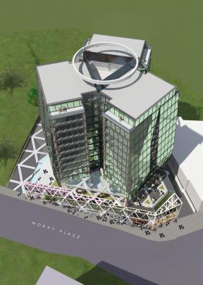 Artist's impression of the proposed hotel. Images supplied.