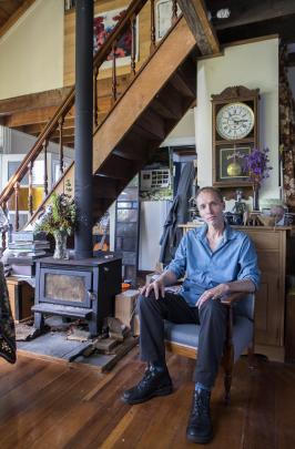 Nicky Hager in the Wellington house he built and where he brought up his daughter. Photos by Nicola Edmonds.