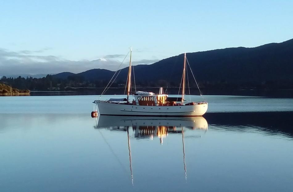 Faith at her mooring on Lake Te Anau. Photos by Alina Suchanski.