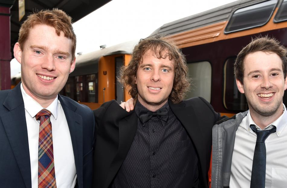 (from left) James MacDonell (27) and Matt McDonald (31), both of Invercargill and Dr Liam Watson