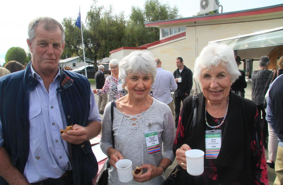 Tony McCarthy, of Papakaio, and sisters Margie Smith and Jane Naish, both of Oamaru.