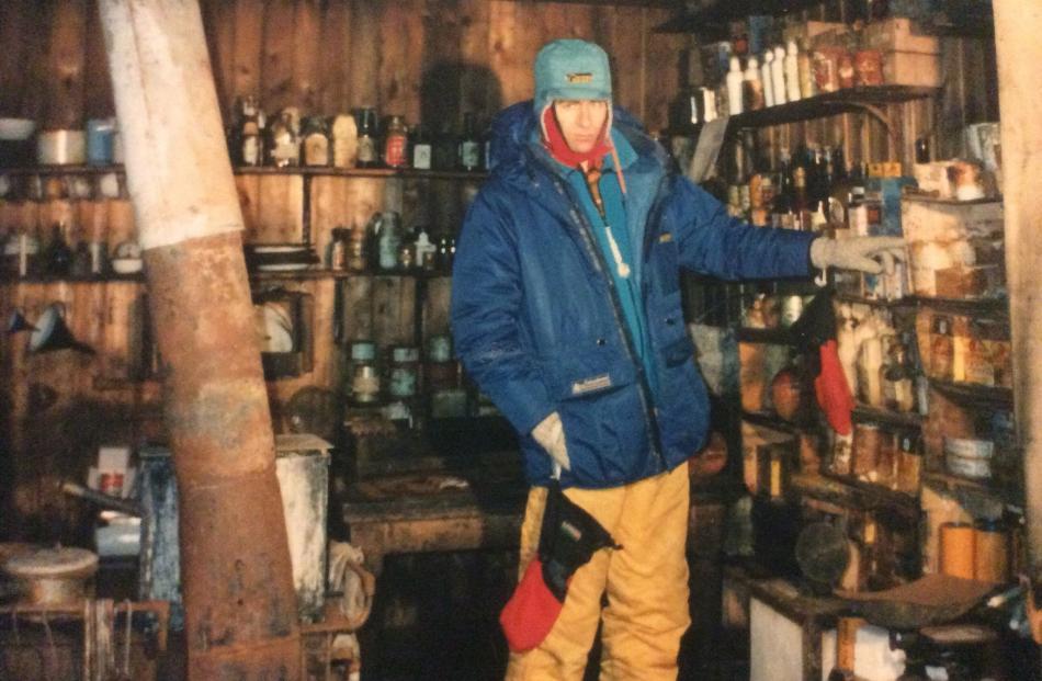 Max Quinn in Robert Falcon Scott's hut on Ross Island in Antarctica. PHOTO: SUPPLIED