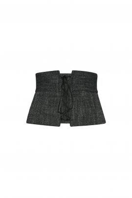 Veronika Maine brushed tweed corset