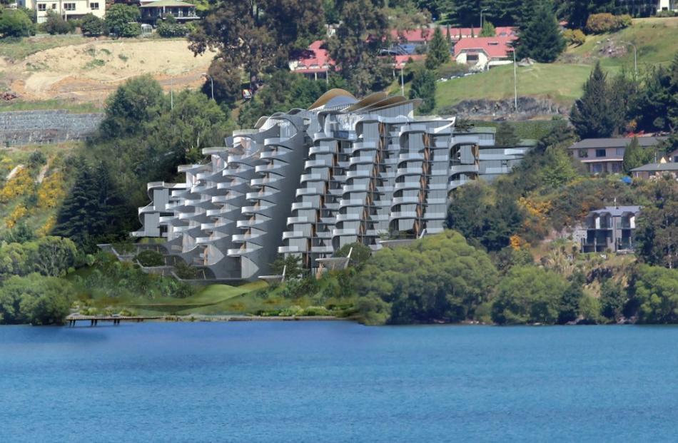 Crest Hotel near Queenstown. PHOTO: WWW.VANBRANDENBURG.CO.NZ